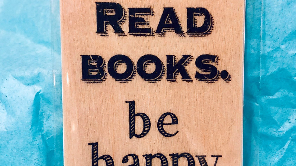 Bookmark-Drink Coffee, Read Books, Be Happy