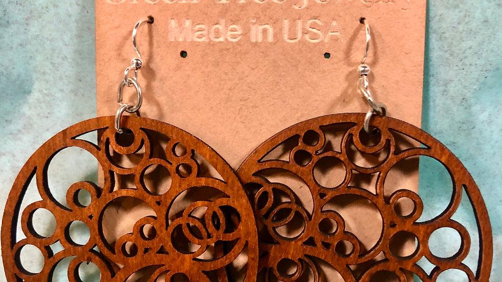 Walnut Circles Earrings