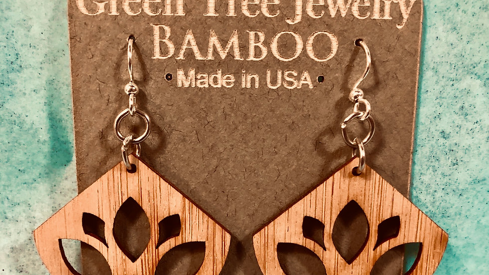 Light Lotus Bambo Earrings