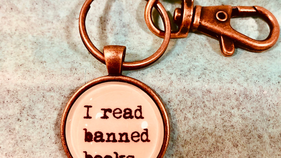 KeyChain Typeset -I Read Banned Books