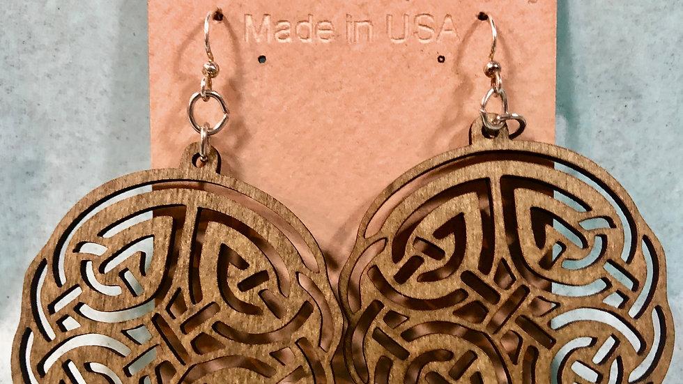 Green Celtic Earrings