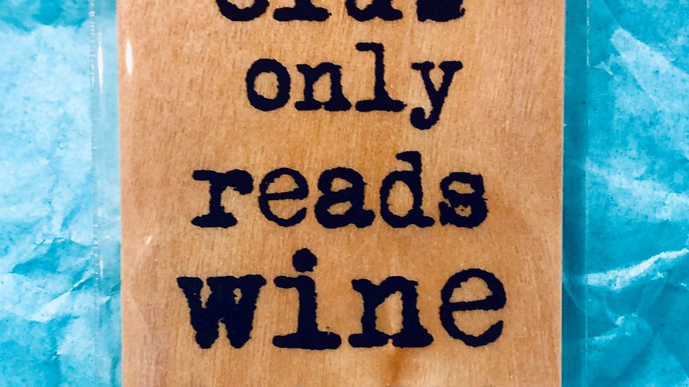 Bookmark-My Book Club Only Reads Wine Labels