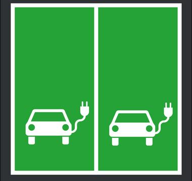 Stellplatzmarkierung für Elektroautos