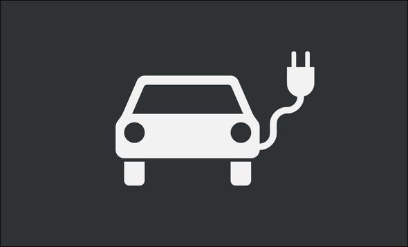 Elektroauto-Symbol