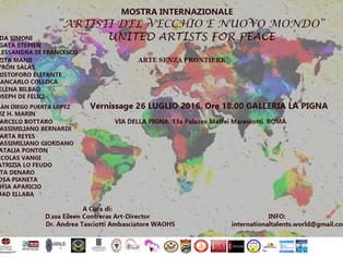 """Mostra Internazionale """"Artisti del Vecchio e Nuovo Mondo"""" United Artists for Peace"""