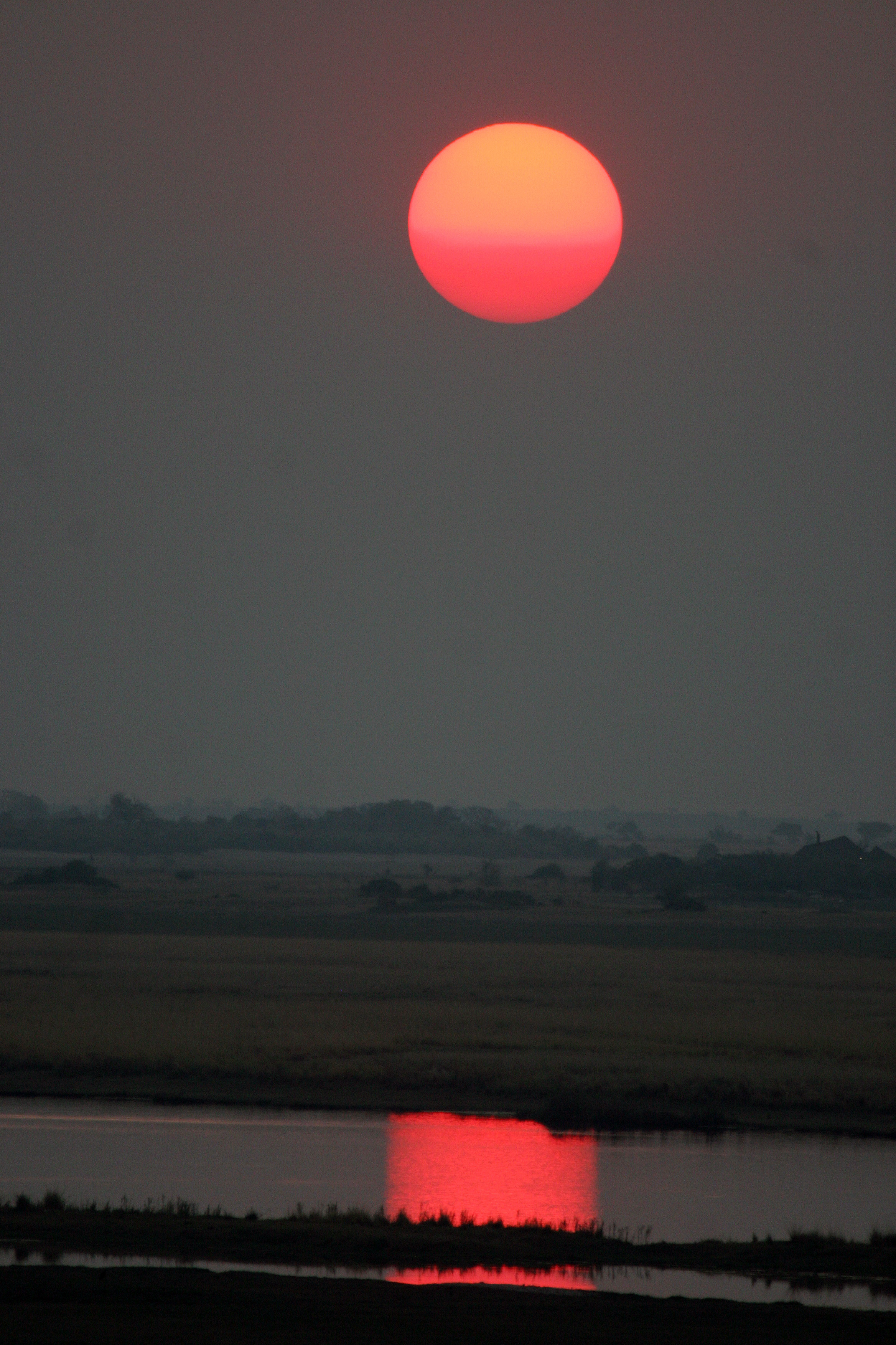 Sunset on Chobe River, Botswana.jpg