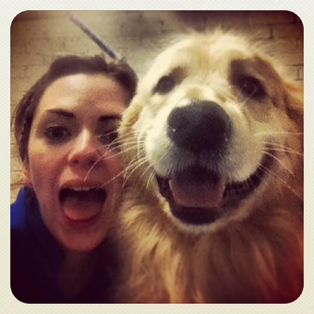 #twins #doggroomer #retriever me and Oscar