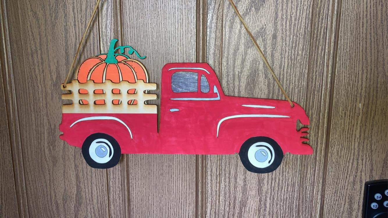 Interchangeable Red Truck Painting Works
