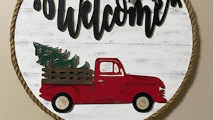 Hand Painted Vintage Truck-Interchangable pieces