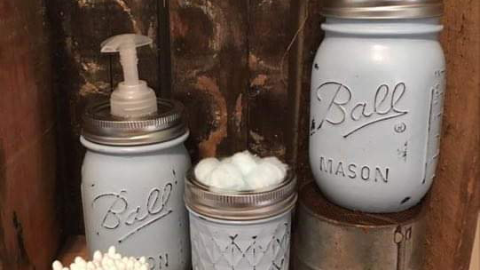Mason Jar Bathroom Set-4 pieces