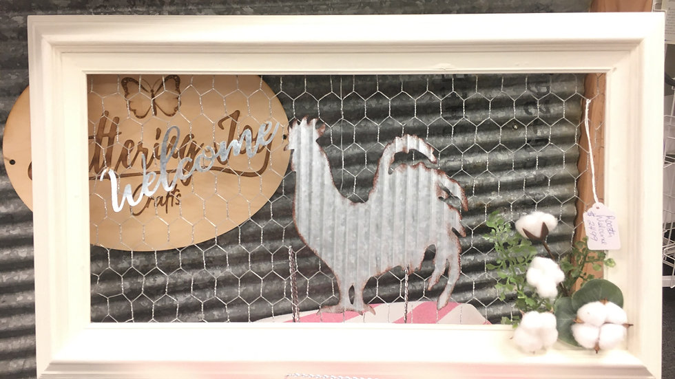 Chicken-Welcome Sign