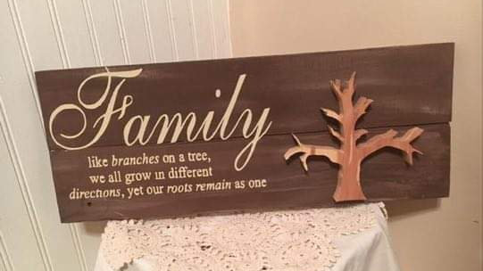 Family-Tree Wooden Sign