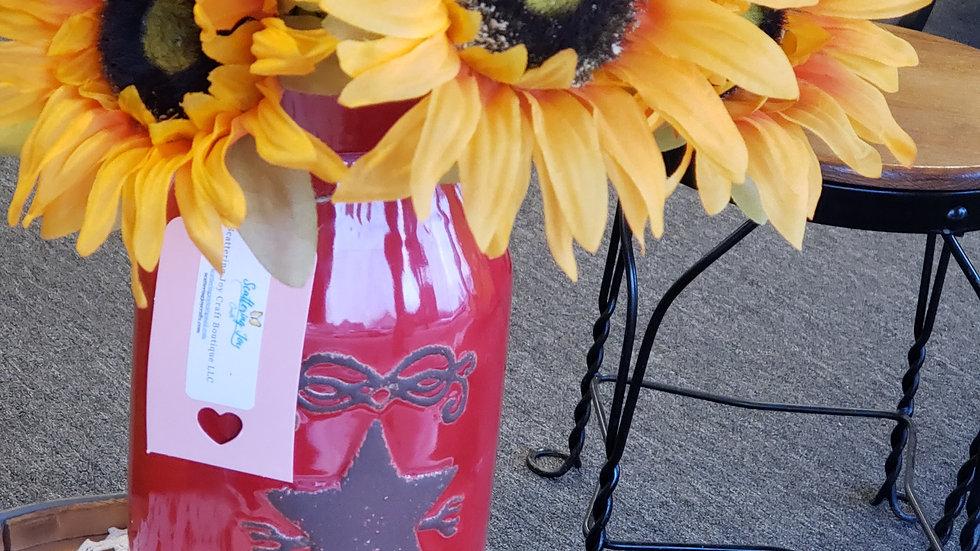 Red Farmhouse Vase