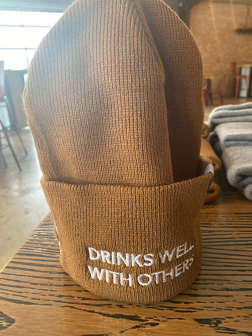 """Carhartt """"DRINKS WELL WITH OTHERS"""" Beanie Hat"""