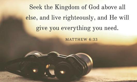 Seeking God First