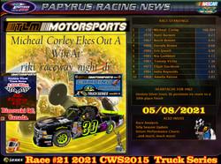 Race#21CWSTruckSeries05-08-21