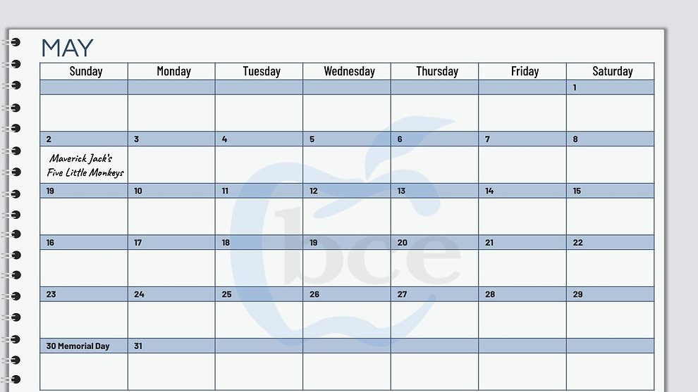 May Shop & Support Calendar View for web