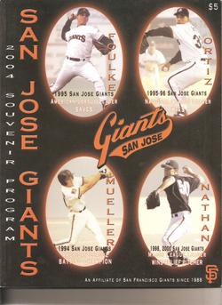 2004 San Jose Giants Program