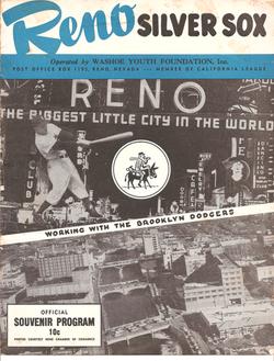 1957 Reno Silver Sox Program