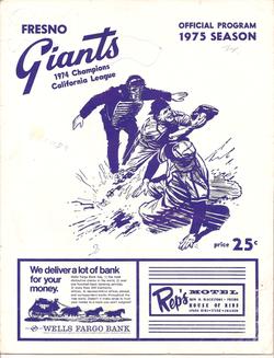 1975 Fresno Giants Program