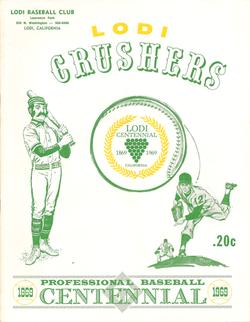 1969 Lodi Crushers Program