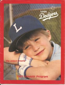 1983 Lodi Dodgers Program