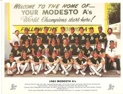 1983 Modesto As Team Photo