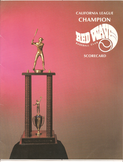 1989 Riverside Red Wave Scorecard