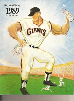 1989 San Jose Giants Program