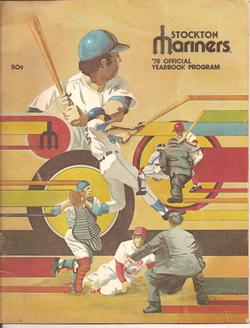 1978 Stockton Mariners Program