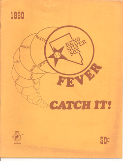 1980 Reno Silver Sox Program