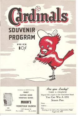 1950 Fresno Cardinals Program