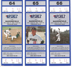 1987 San Bernardino Spirit Tickets