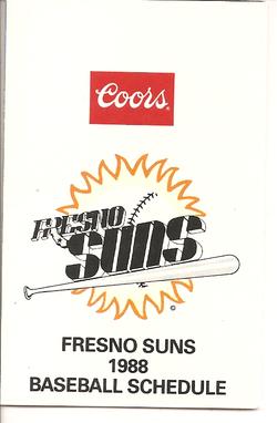 1988 Fresno Suns Schedule
