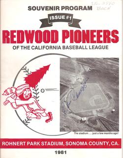 1981 Redwood Pioneers Program