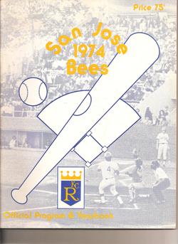 1974 San Jose Bees Program