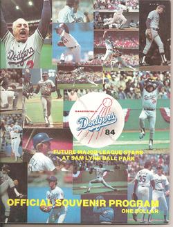 1984 Bakersfield Dodgers Program