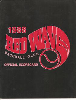 1988 Riverside Red Wave Scorecard