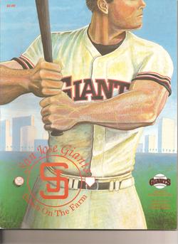 1988 San Jose Giants Program