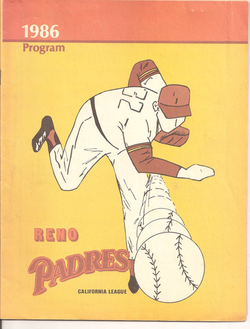 1986 Reno Padres Program