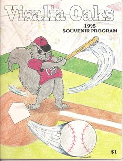 1995 Visalia Oaks Program