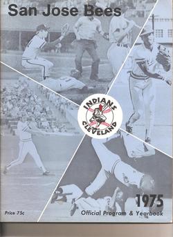 1975 San Jose Bees Program