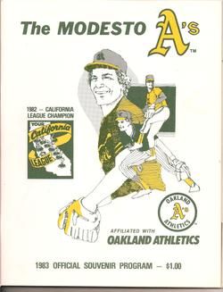 1983 Modesto As Program