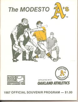 1987 Modesto As Program
