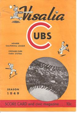 1949 Visalia Cubs Program