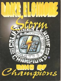 1997 Lake Elsinore Storm Program