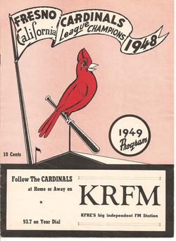 1949 Fresno Cardinals Program