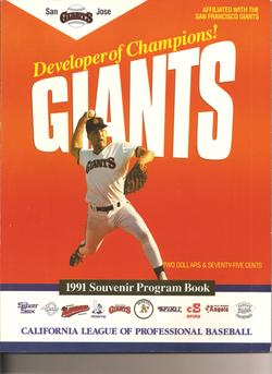 1991 San Jose Giants Program