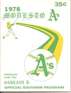 1978 Modesto As Program