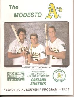 1989 Modesto As Program
